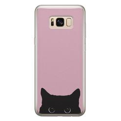 Telefoonhoesje Store Samsung Galaxy S8 siliconen hoesje - Zwarte kat