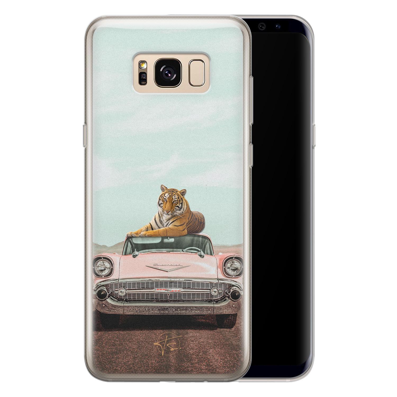 ELLECHIQ Samsung Galaxy S8 siliconen hoesje - Chill tijger