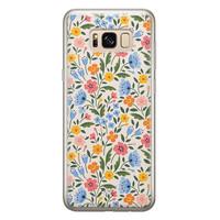 Telefoonhoesje Store Samsung Galaxy S8 siliconen hoesje - Romantische bloemen