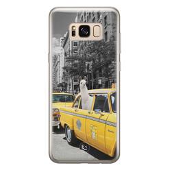 ELLECHIQ Samsung Galaxy S8 siliconen hoesje - Lama in taxi