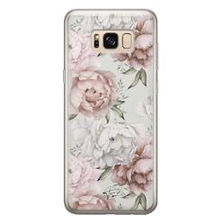 Telefoonhoesje Store Samsung Galaxy S8 siliconen hoesje - Classy flowers