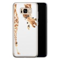 Leuke Telefoonhoesjes Samsung Galaxy S8 siliconen hoesje - Giraffe peekaboo