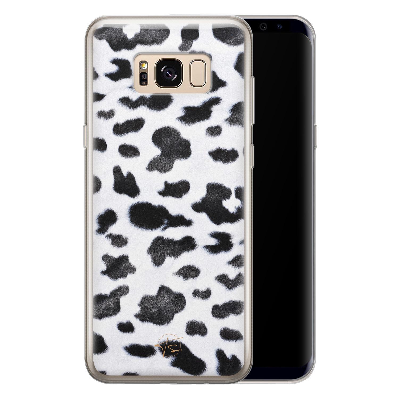 Telefoonhoesje Store Samsung Galaxy S8 siliconen hoesje - Koeienprint