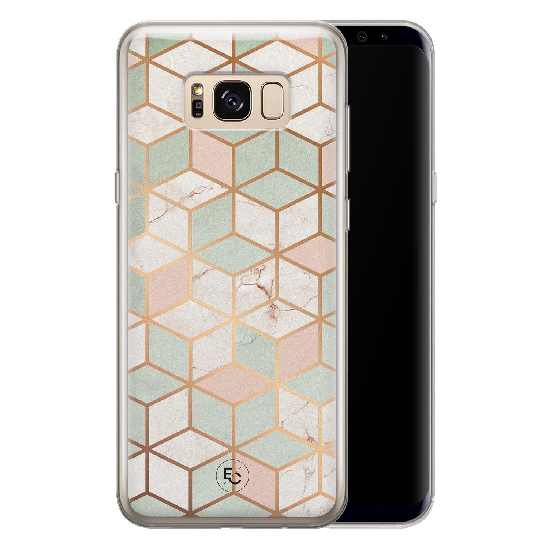 ELLECHIQ Samsung Galaxy S8 siliconen hoesje - Pastel Kubus