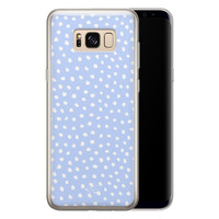 Telefoonhoesje Store Samsung Galaxy S8 siliconen hoesje - Purple dots