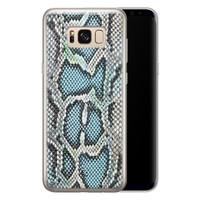 ELLECHIQ Samsung Galaxy S8 siliconen hoesje - Baby Snake blue