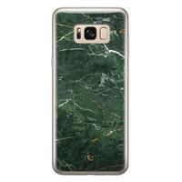 ELLECHIQ Samsung Galaxy S8 siliconen hoesje - Marble jade green