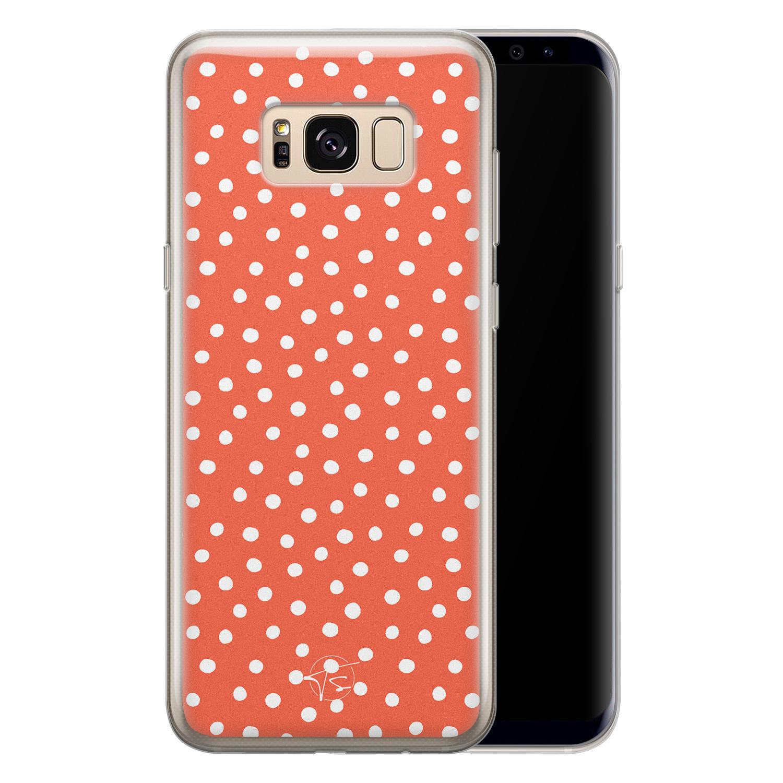 Telefoonhoesje Store Samsung Galaxy S8 siliconen hoesje - Orange dots