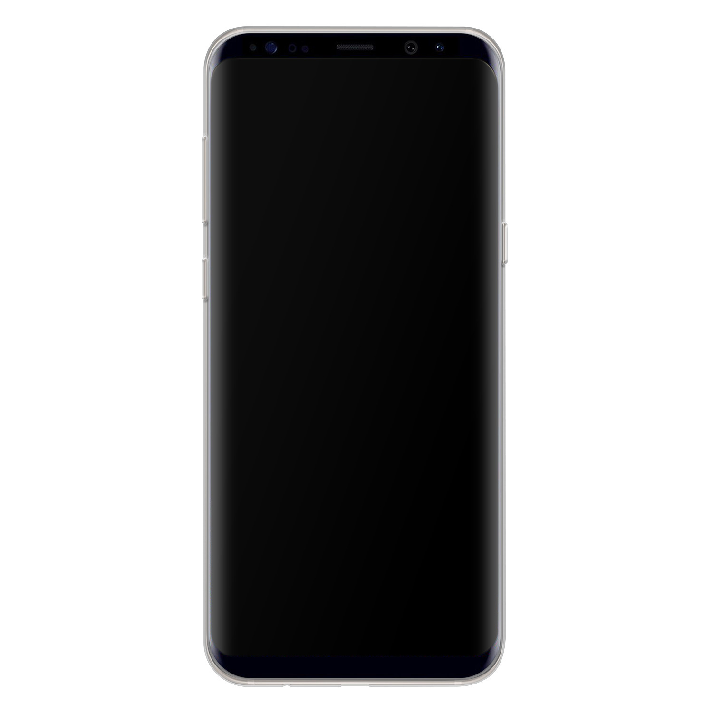 Telefoonhoesje Store Samsung Galaxy S8 siliconen hoesje - Abstract peach
