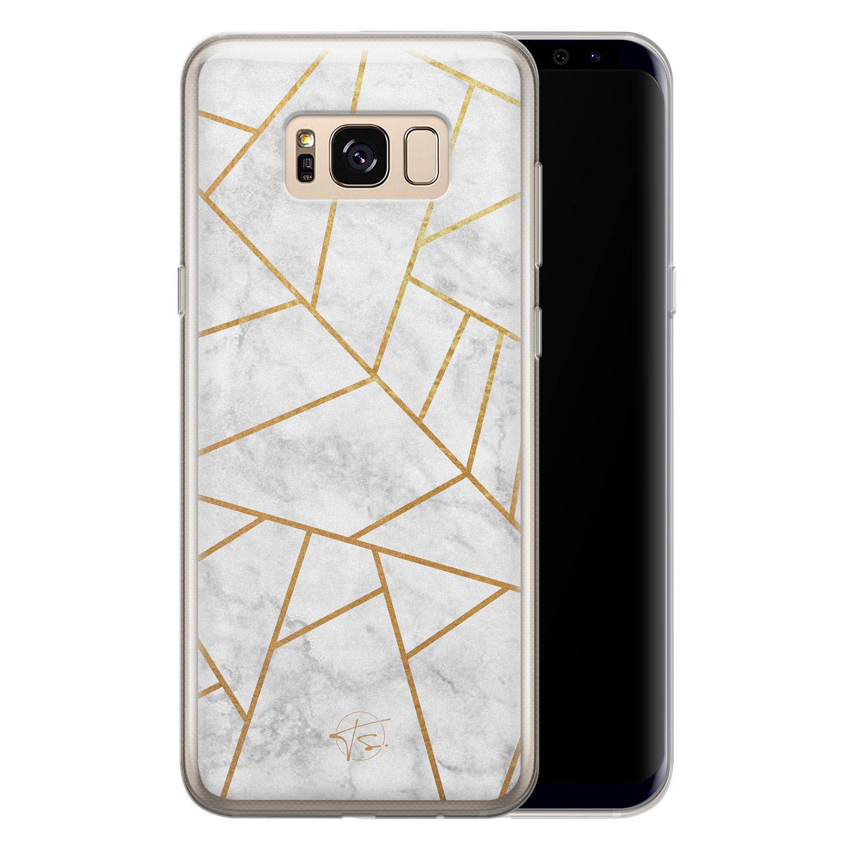 Telefoonhoesje Store Samsung Galaxy S8 siliconen hoesje - Geometrisch marmer