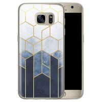 Telefoonhoesje Store Samsung Galaxy S7 siliconen hoesje - Geometrisch fade art