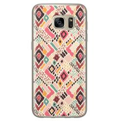 Telefoonhoesje Store Samsung Galaxy S7 siliconen hoesje - Boho vibes