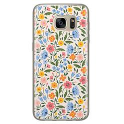 Telefoonhoesje Store Samsung Galaxy S7 siliconen hoesje - Romantische bloemen