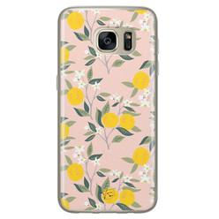 Telefoonhoesje Store Samsung Galaxy S7 siliconen hoesje - Citroenen
