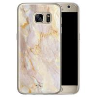 ELLECHIQ Samsung Galaxy S7 siliconen hoesje - Stay Golden Marble