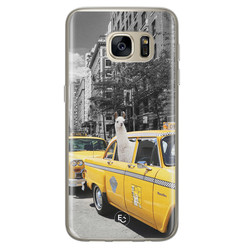 ELLECHIQ Samsung Galaxy S7 siliconen hoesje - Lama in taxi