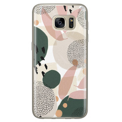 Leuke Telefoonhoesjes Samsung Galaxy S7 siliconen hoesje - Abstract print
