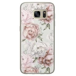 Telefoonhoesje Store Samsung Galaxy S7 siliconen hoesje - Classy flowers