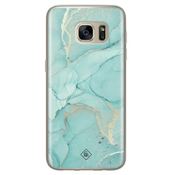 Casimoda Samsung Galaxy S7 siliconen hoesje - Touch of mint