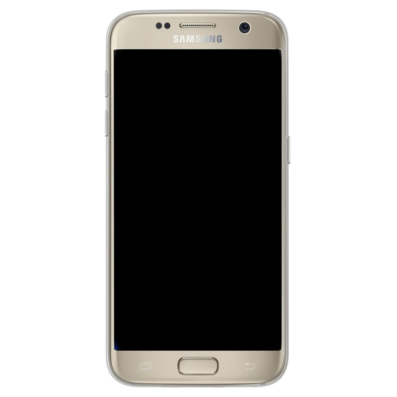 Telefoonhoesje Store Samsung Galaxy S7 siliconen hoesje - Koeienprint