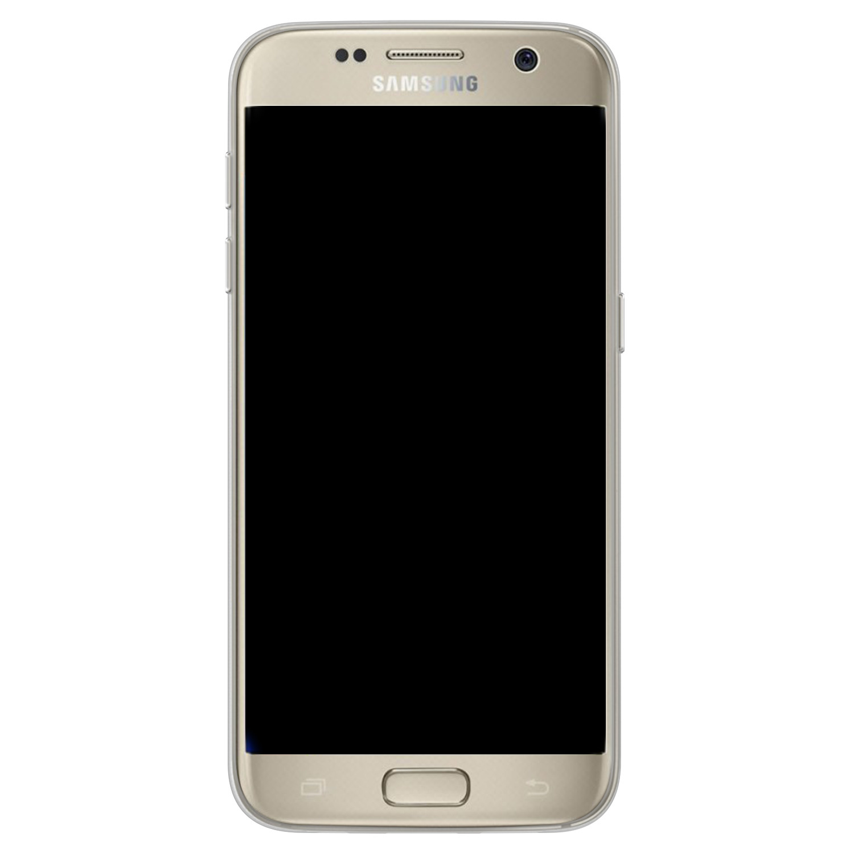 Telefoonhoesje Store Samsung Galaxy S7 siliconen hoesje - Flamingo