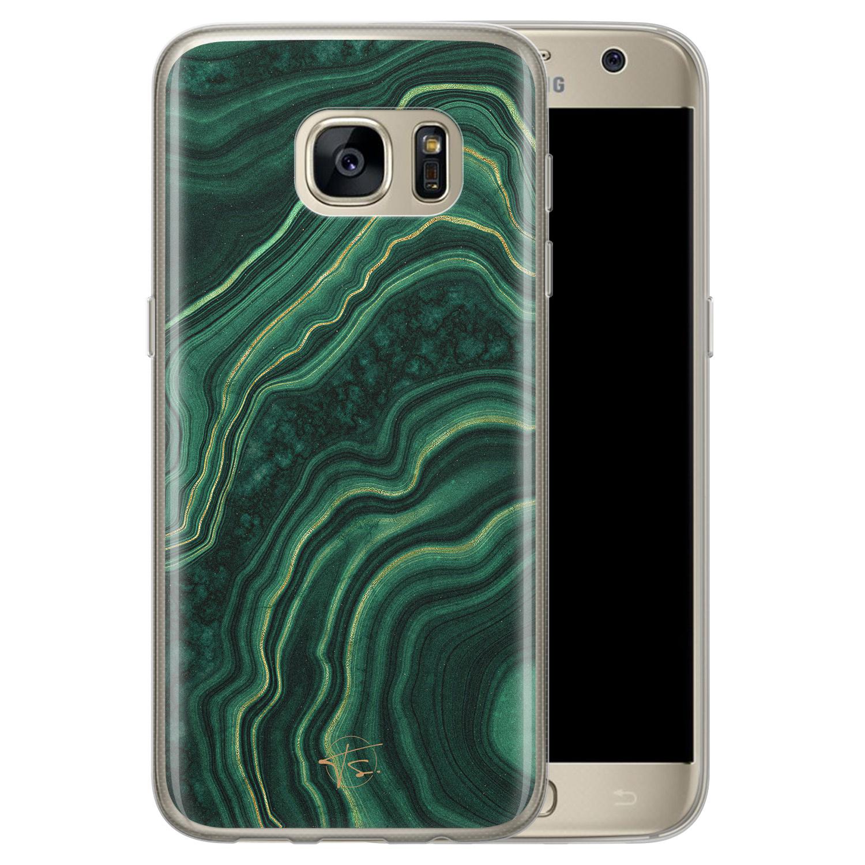 Telefoonhoesje Store Samsung Galaxy S7 siliconen hoesje - Agate groen