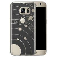 Telefoonhoesje Store Samsung Galaxy S7 siliconen hoesje - Universe space