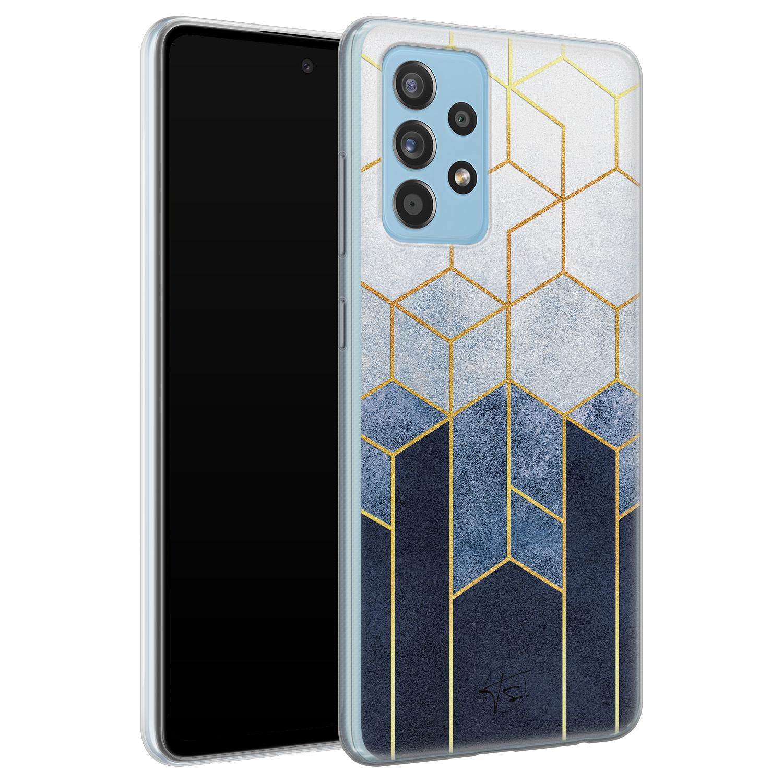 Telefoonhoesje Store Samsung Galaxy A52 siliconen hoesje - Geometrisch fade art
