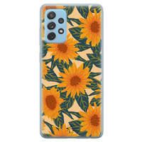Telefoonhoesje Store Samsung Galaxy A52 siliconen hoesje - Zonnebloemen