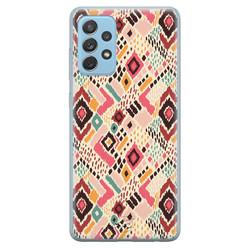 Telefoonhoesje Store Samsung Galaxy A52 siliconen hoesje - Boho vibes