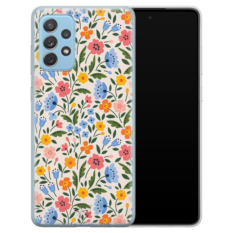 Telefoonhoesje Store Samsung Galaxy A52 siliconen hoesje - Romantische bloemen