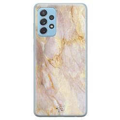 ELLECHIQ Samsung Galaxy A52 siliconen hoesje - Stay Golden Marble