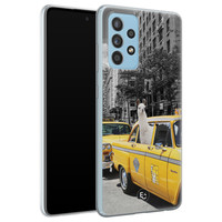 ELLECHIQ Samsung Galaxy A52 siliconen hoesje - Lama in taxi