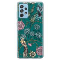 Telefoonhoesje Store Samsung Galaxy A52 siliconen hoesje - Bloomy birds