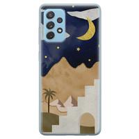 Leuke Telefoonhoesjes Samsung Galaxy A52 siliconen hoesje - Desert night