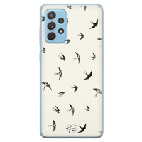 Telefoonhoesje Store Samsung Galaxy A52 siliconen hoesje - Freedom birds