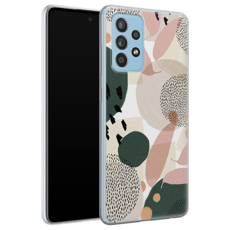 Leuke Telefoonhoesjes Samsung Galaxy A52 siliconen hoesje - Abstract print