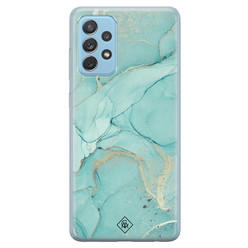 Casimoda Samsung Galaxy A52 siliconen hoesje - Touch of mint