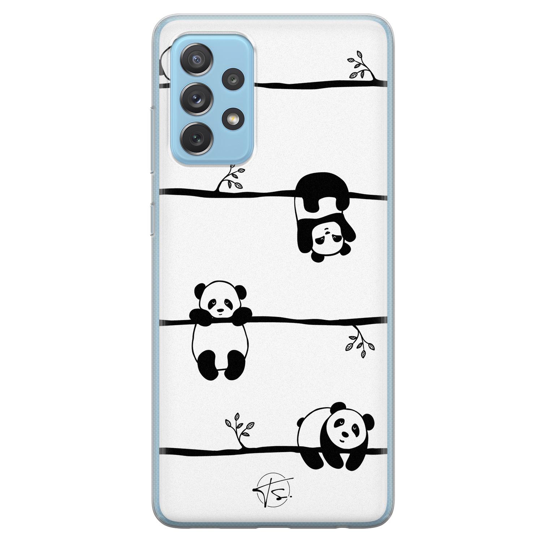 Telefoonhoesje Store Samsung Galaxy A52 siliconen hoesje - Panda