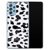 Telefoonhoesje Store Samsung Galaxy A52 siliconen hoesje - Koeienprint
