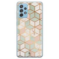 ELLECHIQ Samsung Galaxy A52 siliconen hoesje - Pastel Kubus