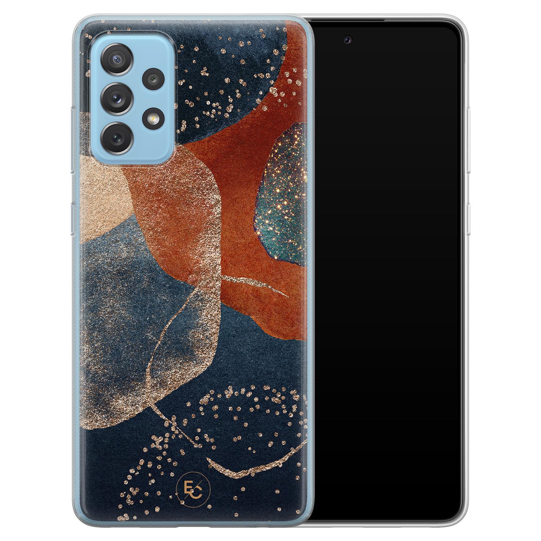 ELLECHIQ Samsung Galaxy A52 siliconen hoesje - Abstract Terracotta