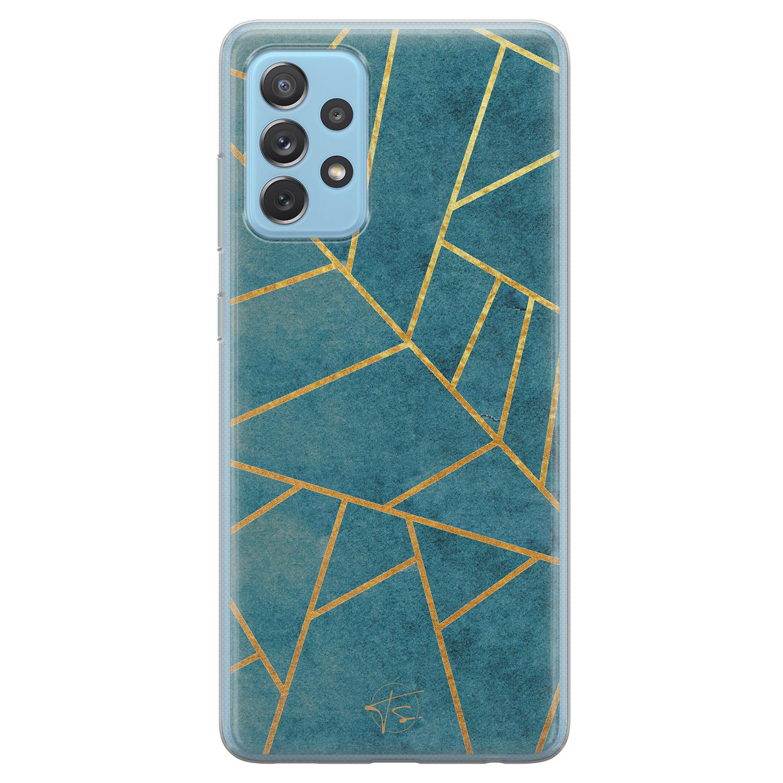 Telefoonhoesje Store Samsung Galaxy A52 siliconen hoesje - Abstract blauw