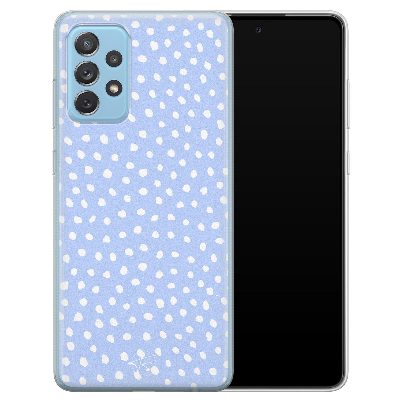 Telefoonhoesje Store Samsung Galaxy A52 siliconen hoesje - Purple dots