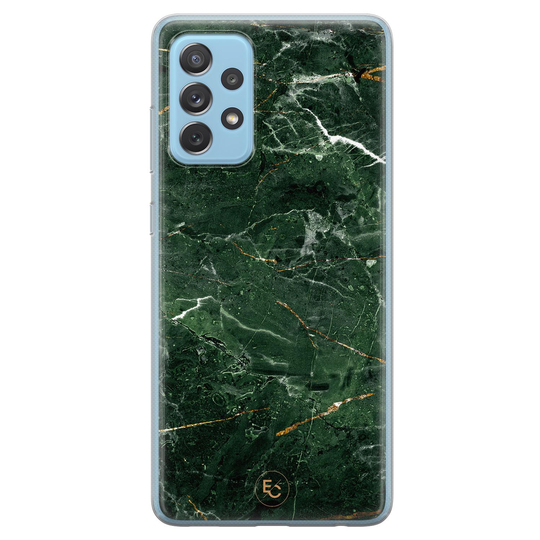 ELLECHIQ Samsung Galaxy A52 siliconen hoesje - Marble jade green