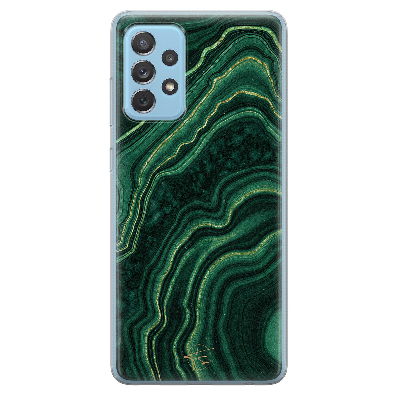 Telefoonhoesje Store Samsung Galaxy A52 siliconen hoesje - Agate groen