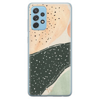 Telefoonhoesje Store Samsung Galaxy A52 siliconen hoesje - Abstract peach