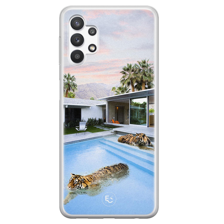 ELLECHIQ Samsung Galaxy A32 5G siliconen hoesje - Tiger pool