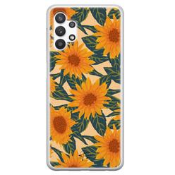 Telefoonhoesje Store Samsung Galaxy A32 5G siliconen hoesje - Zonnebloemen