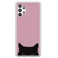 Telefoonhoesje Store Samsung Galaxy A32 5G siliconen hoesje - Zwarte kat
